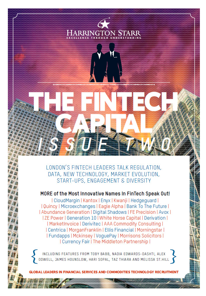 Quincy Data featured in the Harrington Starr's FinTech Capital book